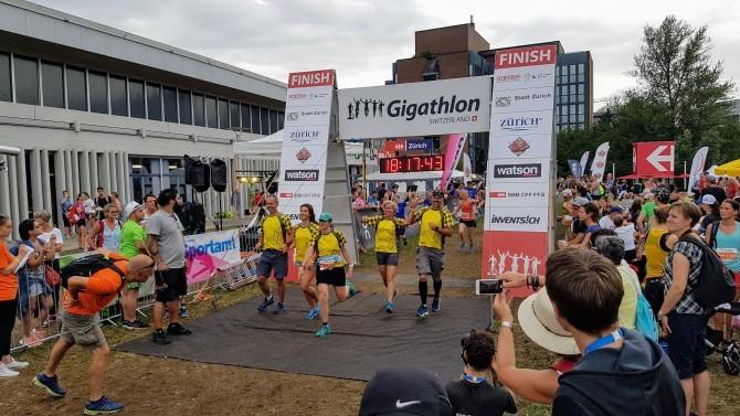 Gigathlon 2017 in Zürich – heiss und stürmisch