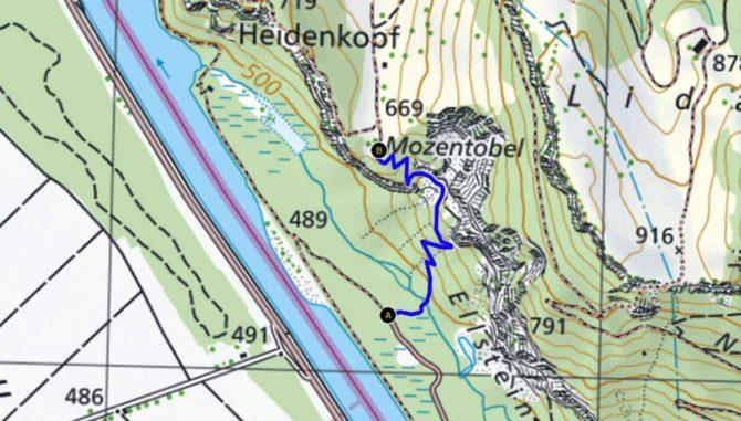 Bergwanderweg Mozentobel in Fläsch ist nicht mehr gesperrt